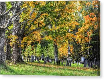Rowell Cemetery Canvas Print