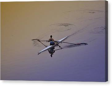 Kelly Drive Canvas Print - Rower by Bill Cannon