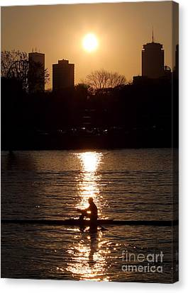 Rower Sunrise Canvas Print