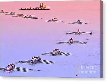 Rowers Arc Canvas Print by Gary Holmes