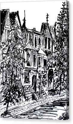 Rowhouses Canvas Print