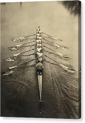 Rowing Crew, Early 20th Century Canvas Print by Science Photo Library