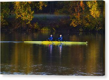 Kelly Drive Canvas Print - Rowing In Autumn by Bill Cannon