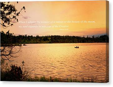 Canvas Print featuring the photograph Rowing Into The Sunset by Kelly Reber