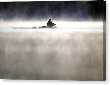 Rowing Canvas Print by Mitch Cat