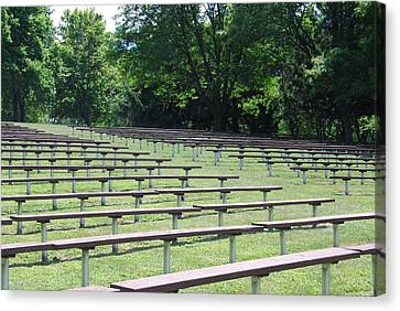 Canvas Print featuring the photograph Rows And Rows Of Seats by Ramona Whiteaker