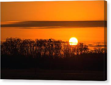 Canvas Print featuring the photograph Roxanna Sunrise by Bill Swartwout