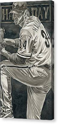 Roy Halladay Canvas Print by David Courson