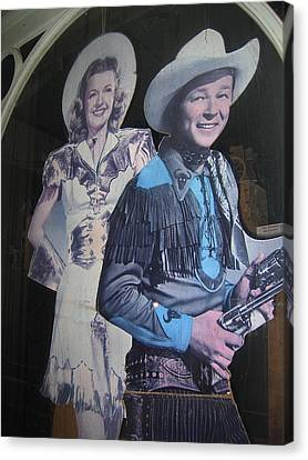 Cardboard Canvas Print - Roy Rogers And Dale Evans #2 Cut-outs Tombstone Arizona 2004 by David Lee Guss