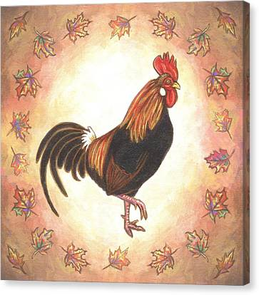 Roy The Rooster Two Canvas Print by Linda Mears