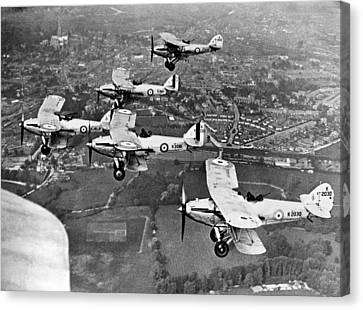 Raf Canvas Print - Royal Air Force Formation by Underwood Archives