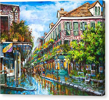 Street Art Canvas Print - Royal At Pere Antoine Alley, New Orleans French Quarter by Dianne Parks