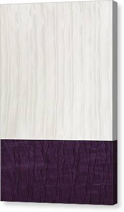 Royal Aubergine - Royal Purple Canvas Print by Margaret Ivory