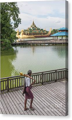 Royal Barge In Yangon Myanmar  Canvas Print