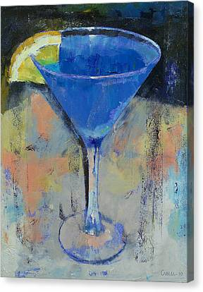 Royal Blue Martini Canvas Print