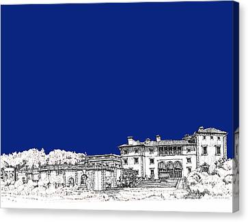 Royal Blue Vizcaya In Miami Canvas Print by Building  Art