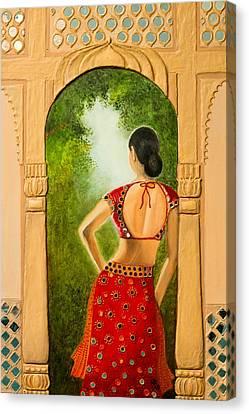 Royal Bride Canvas Print by Archana Doddi