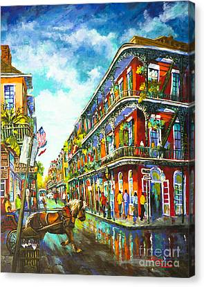 Canvas Print featuring the painting Royal Carriage - New Orleans French Quarter by Dianne Parks
