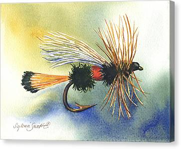 Royal Coachman Fishing Fly Canvas Print by Sylvia Smith