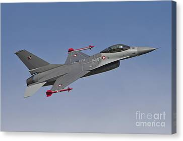 Royal Danish Air Force F-16a Fighting Canvas Print