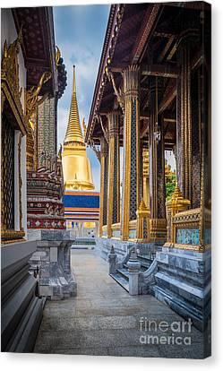 Royal Grand Palace Columns Canvas Print by Inge Johnsson