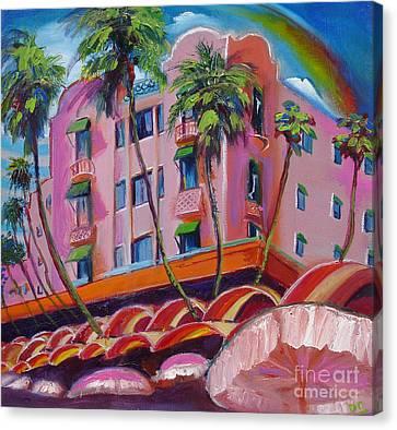 Canvas Print - Royal Hawaiian Hotel by Donna Chaasadah
