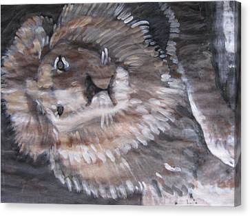 Canvas Print featuring the painting Royal Lion by Vikram Singh
