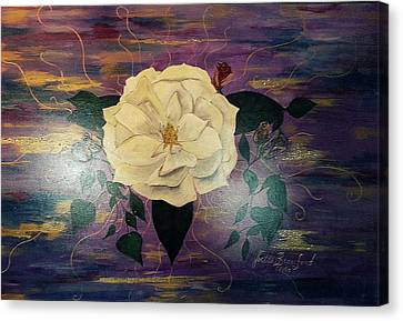 Royal Majestic Magnolia Canvas Print by Joetta Beauford