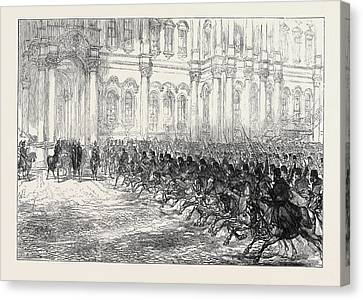 Royal Marriage Festivities At St Canvas Print by English School