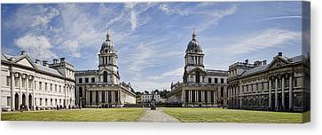 Royal Naval College Courtyard Canvas Print by Heather Applegate