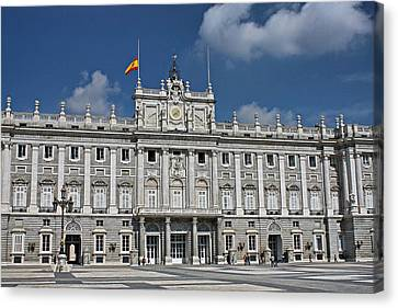 Canvas Print featuring the photograph Royal Palace Of Madrid by Farol Tomson