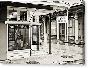 Royal Pharmacy - Sepia Canvas Print