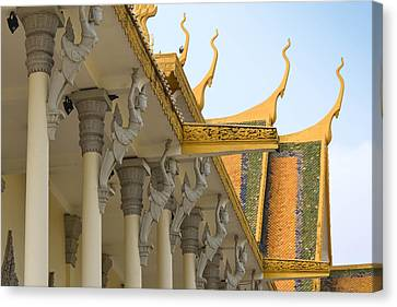 Royal Roof Cambodia Canvas Print by Bill Mock
