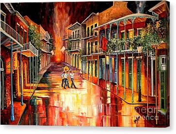 Big Easy Canvas Print - Royal Street Serenade by Diane Millsap