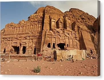 Nabatean Canvas Print - Royal Tombs At Ancient Nabatean City by Panoramic Images