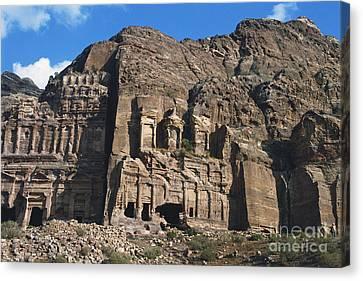 Royal Tombs, Petra, Jordan Canvas Print by Catherine Ursillo