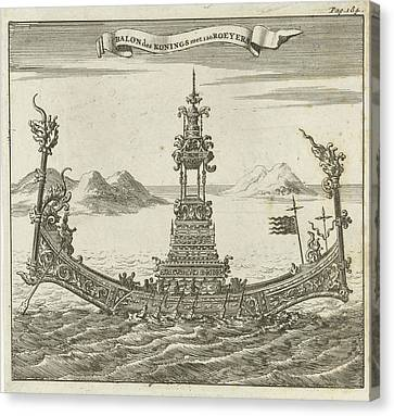Royal Vessel With 120 Rowers In Siam Thailand Canvas Print