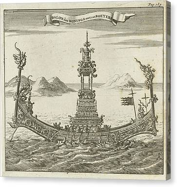 Royal Vessel With 120 Rowers To Siam, Thailand Canvas Print
