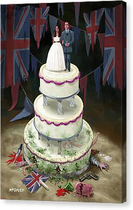 Royal Wedding 2011 Cake Canvas Print by Martin Davey
