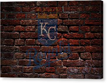 Royals Baseball Graffiti On Brick  Canvas Print by Movie Poster Prints