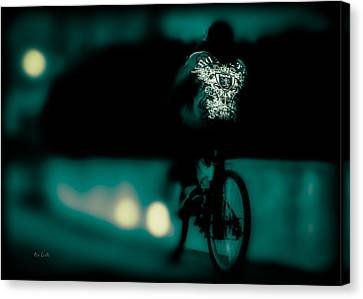 Royalty On A Bicycle  Canvas Print
