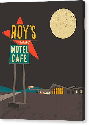 Roys Cafe Canvas Print by Jazzberry Blue