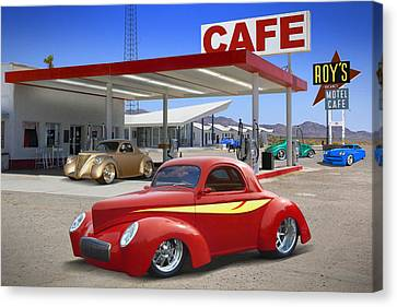 Mike Canvas Print - Roy's Gas Station 2 by Mike McGlothlen