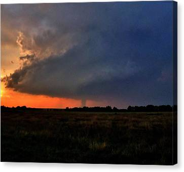 Canvas Print featuring the photograph Rozel Tornado by Ed Sweeney