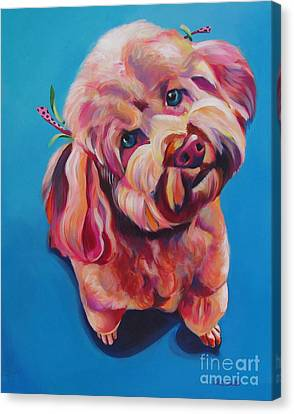 Rozzie In Pink Canvas Print