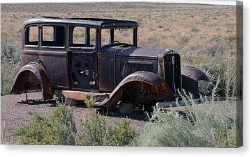 Canvas Print featuring the photograph Rt 66 And Nowhere To Go by Debby Pueschel