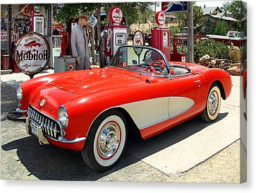 Rt. 66 Corvette Canvas Print