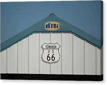 Rt 66 Towanda Plague Canvas Print by Thomas Woolworth