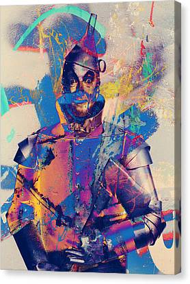 Ink Drawing Canvas Print - Rubber Tin Man  by Jerry Cordeiro