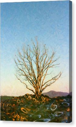 Rubber Tree Canvas Print by Spyder Webb